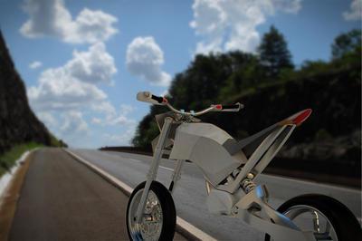 HSKIN HYDROGEN MOTORBIKE