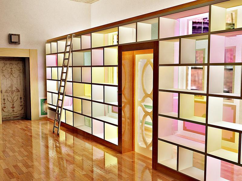 Libreria divisoria rangoni basilio srl for Libreria divisoria con porta
